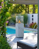 Neocube outdoor fireplace